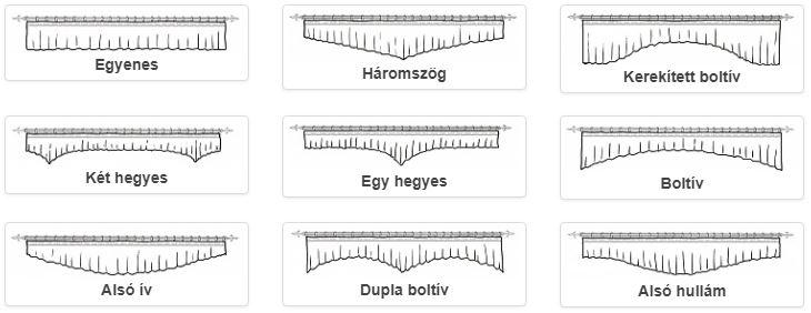 Drapéria szabásminták